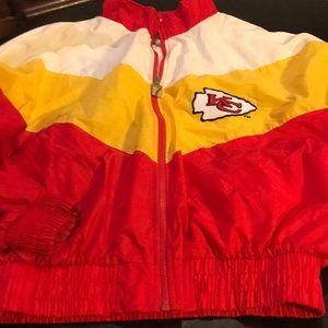 Almost New KC Chiefs Men's Lg  Full Zip Jacket 🏈
